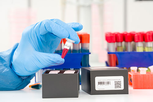 Lab tech working at COVID testing sites in Hollywood, FL